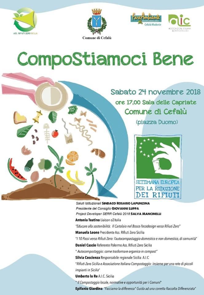 Volantino evento 24 novembre 2018 Cefalù