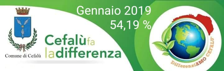 Raccolta Differenziata gennaio 2019 Cefalù