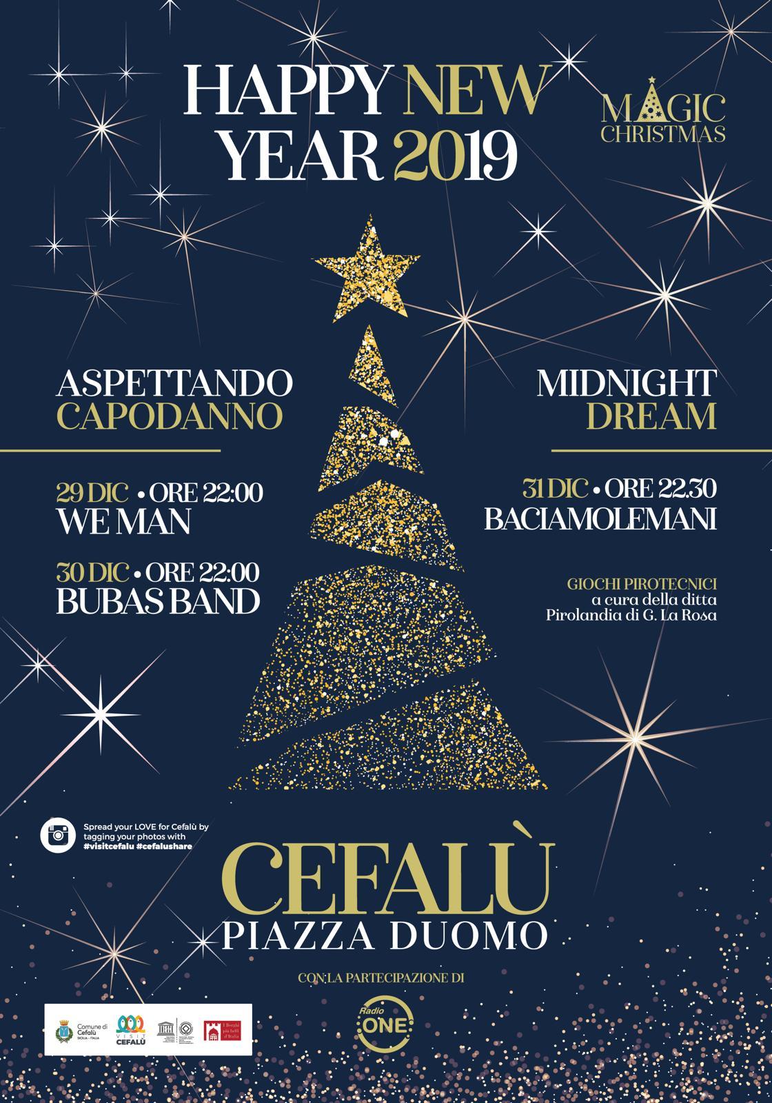Volantino Capodanno 2019 Cefalù