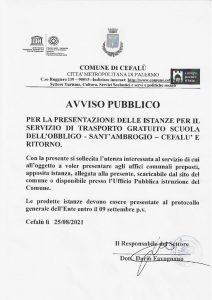 thumbnail of AVVISO PUBBLICO E MODELLO DI DOMANDA CEFALU' S. AMBROGIO TRASPORTO ALUNNI 2021 2022